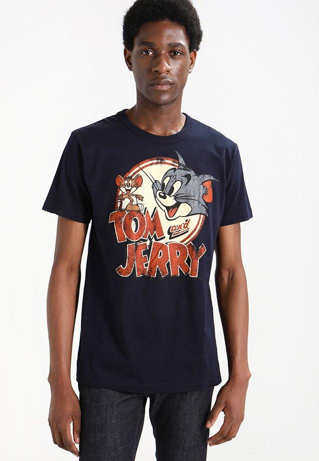 TOM AND JERRY LOGO - Print T-shirt - dunkelblau