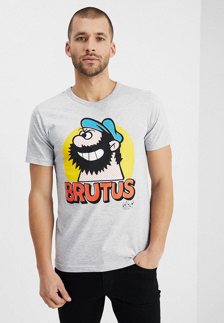 LOGOSHIRT - POPEYE BRUTUS PORTRAIT EASY FIT - Print T-shirt - grey