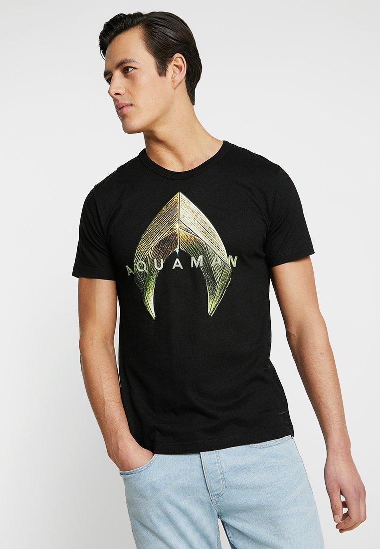 LOGOSHIRT - DC AQUAMAN LOGO - T-shirts med print - black