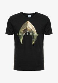 LOGOSHIRT - DC AQUAMAN LOGO - Print T-shirt - black - 3
