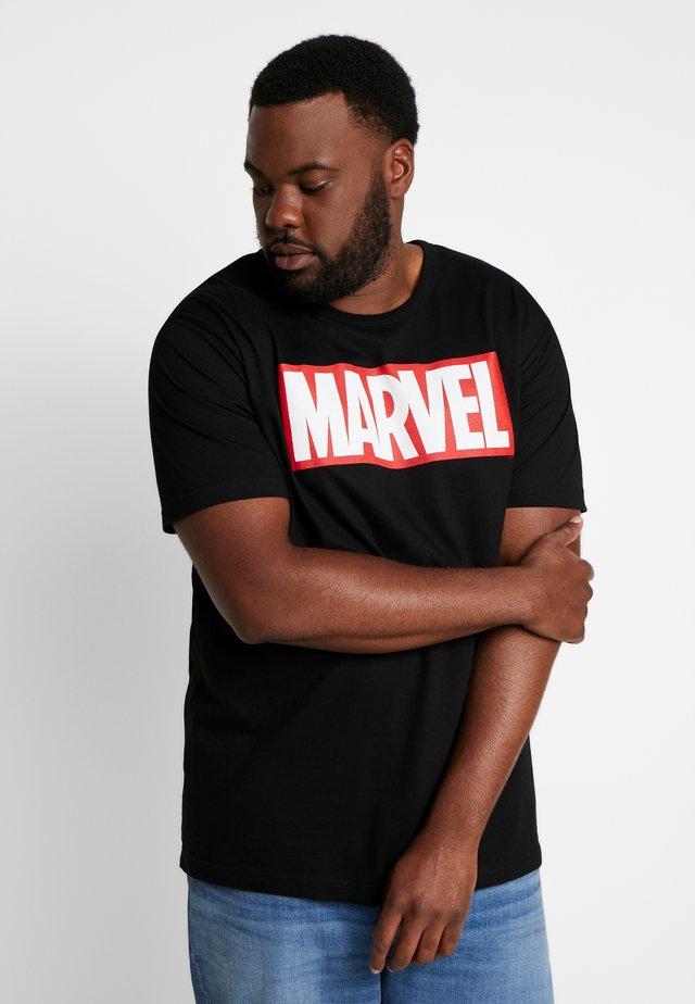 MARVEL LOGO - Print T-shirt - black