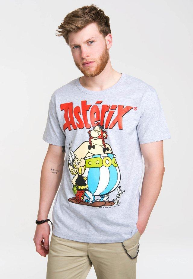 ASTERIX & OBELIX MIT COOLEM RETRO-PRINT - Print T-shirt - grey