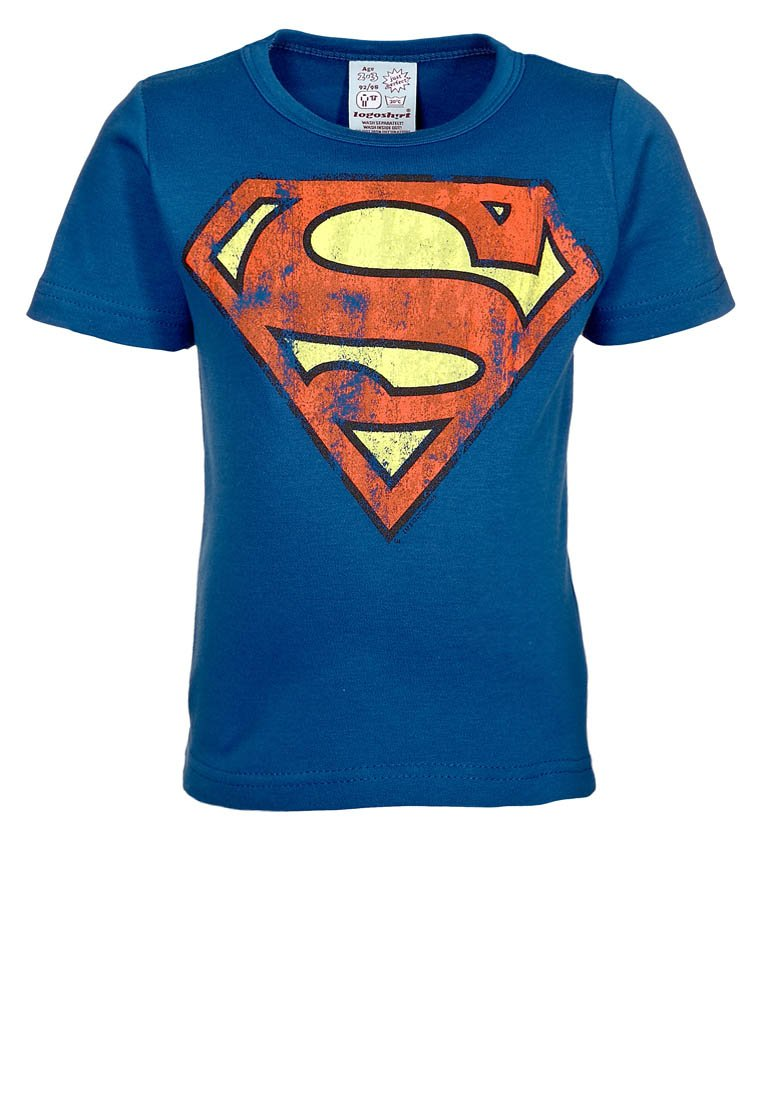 LOGOSHIRT - SUPERMAN - Print T-shirt - azure blue
