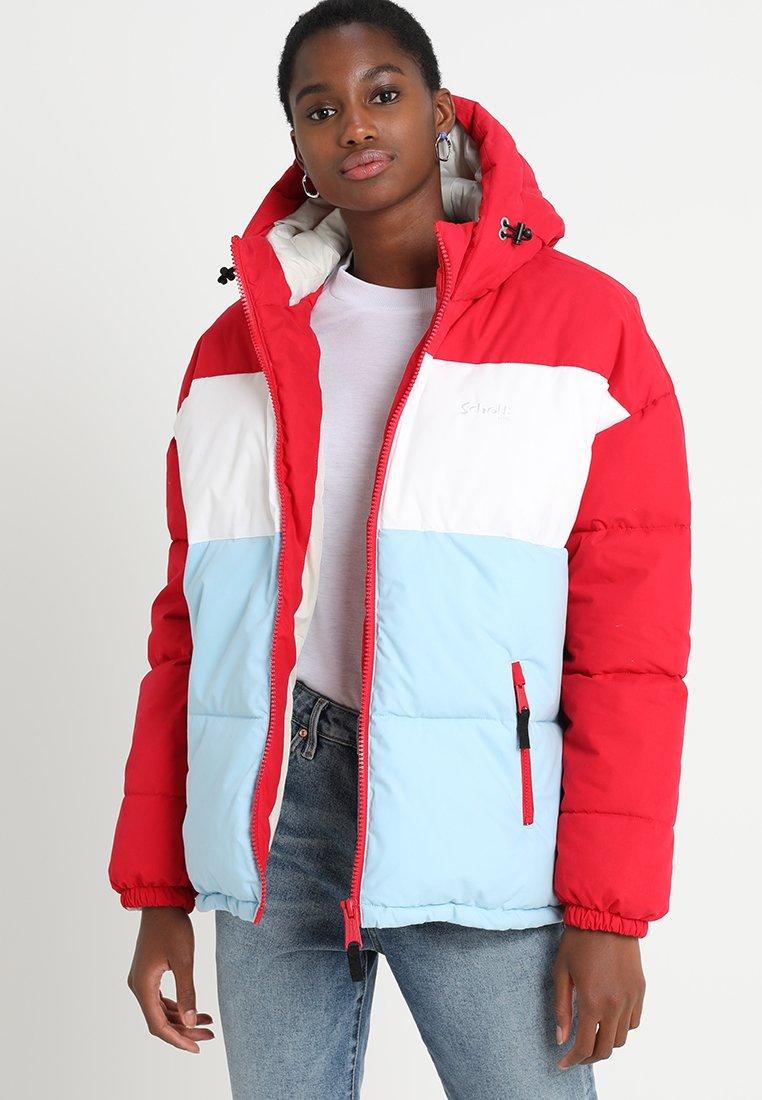 Schott - ALASKA - Winterjacke - red/pale blue