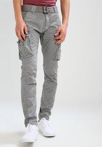Schott - TRRANGER - Pantaloni cargo - grey - 0