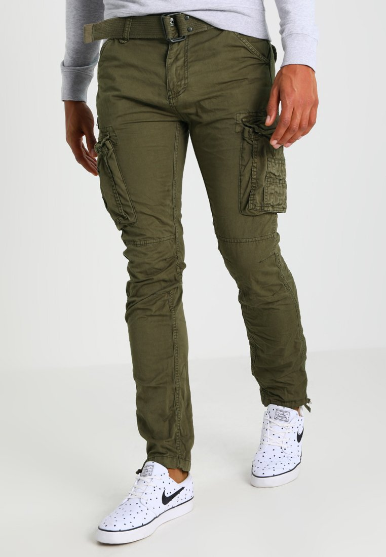 Schott - TRRANGER - Pantalon cargo - olive