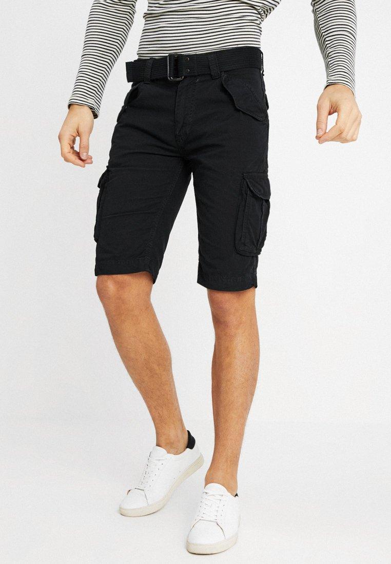 Schott - BATTLE - Shorts - black