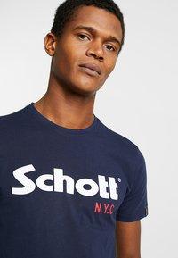 Schott - LOGO 2 PACK - T-shirt imprimé - navy/grey - 4