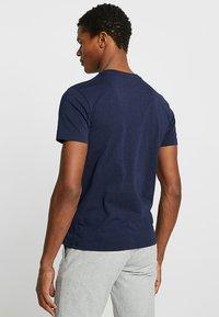 Schott - LOGO 2 PACK - T-shirt imprimé - navy/grey - 2