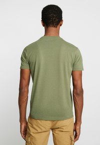 Schott - LOGO 2 PACK - T-shirt con stampa - khaki/bordeaux - 2