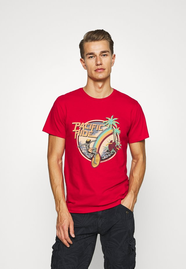 T-Shirt print - spicy red