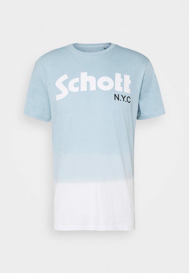 LOGO DIP DYE - T-shirt z nadrukiem - sky blue