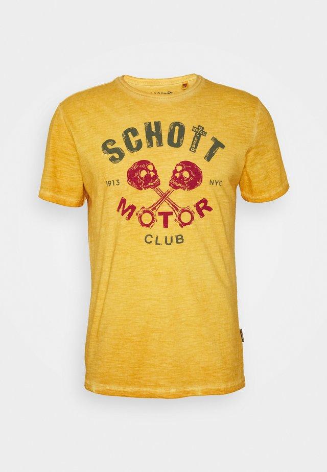 T-shirt print - gold