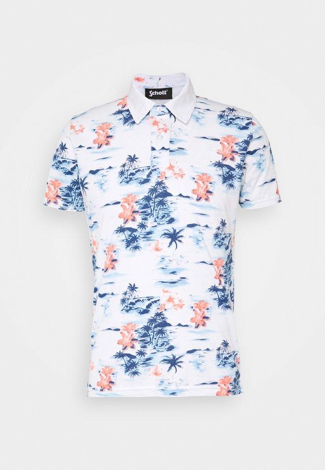 Poloshirt - blue hawai