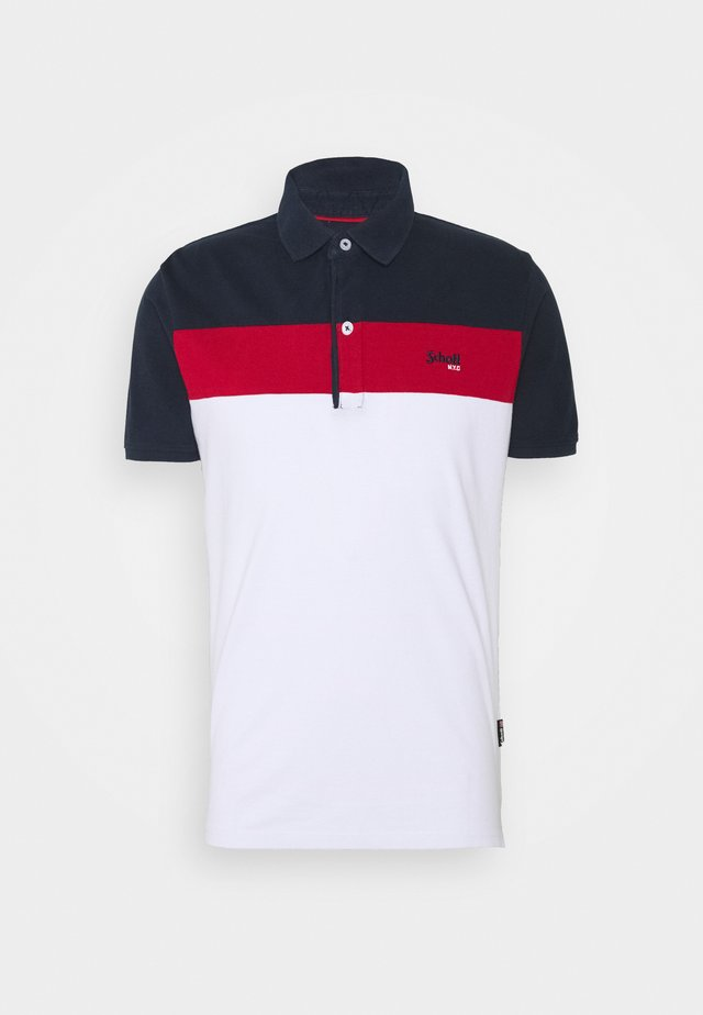 Polo shirt - navy/red/white
