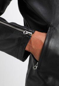 Schott - FUEL - Veste en cuir - black - 3