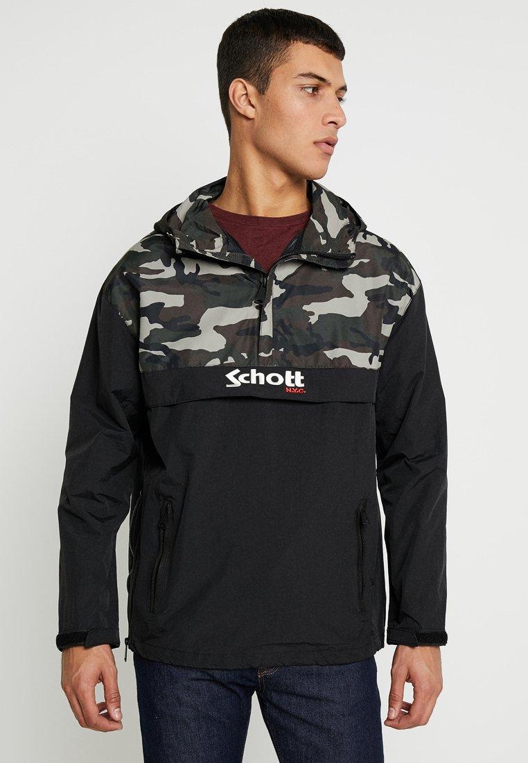 Schott - PIKES - Veste coupe-vent - khaki/black