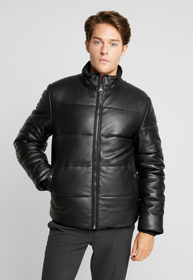 NEWARK - Leather jacket - black