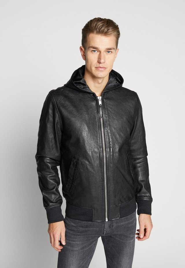 BOSTON  - Leather jacket - black