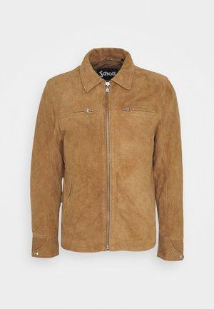 Leather jacket - rust