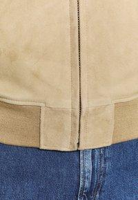 Schott - Leather jacket - beige - 5