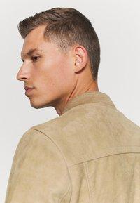 Schott - Leather jacket - beige - 3