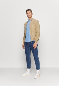 Schott - Leather jacket - beige - 1