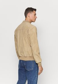 Schott - Leather jacket - beige - 2