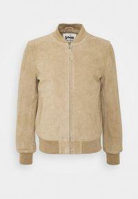 Schott - Leather jacket - beige - 4