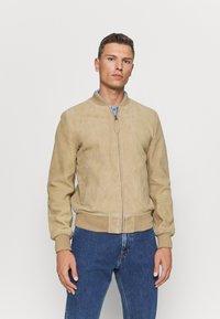 Schott - Leather jacket - beige - 0