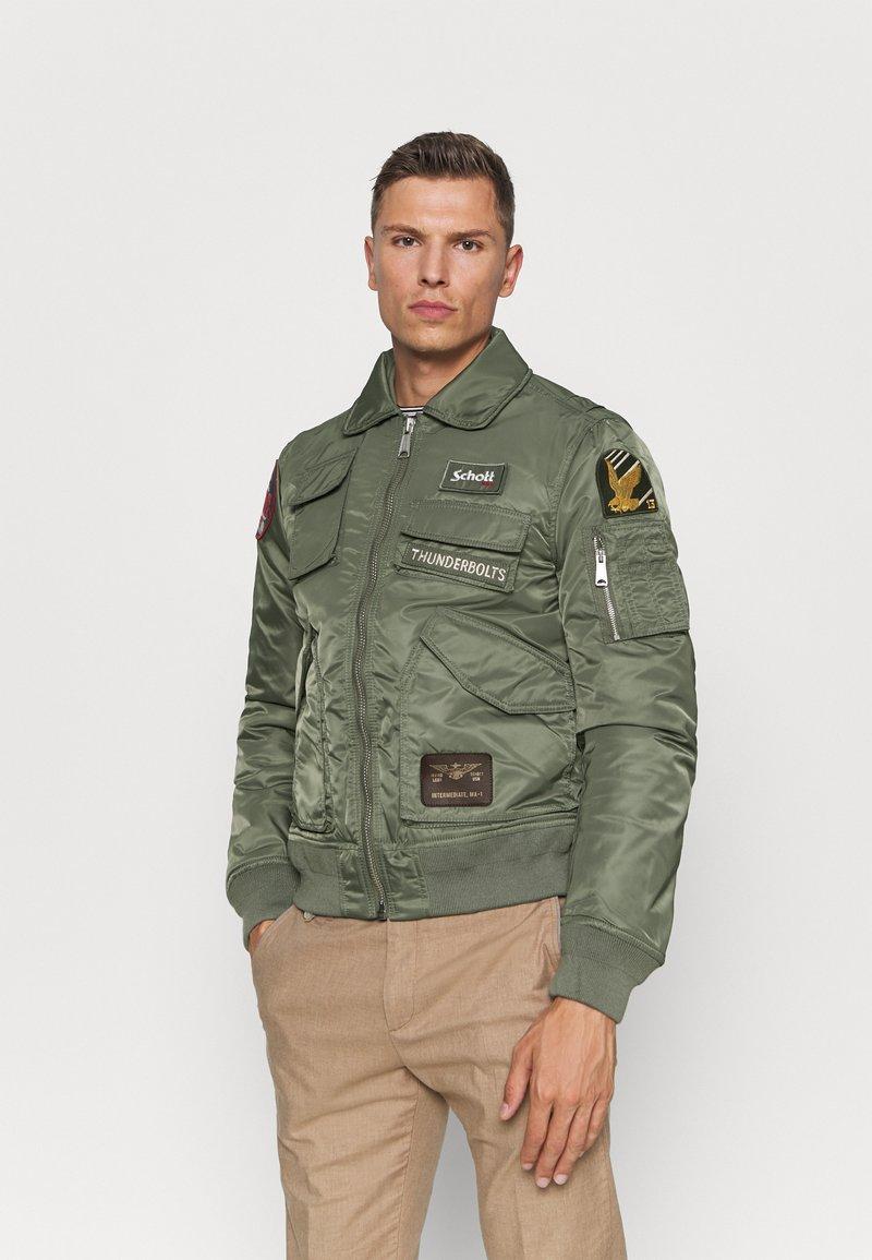 Schott - Bomber Jacket - sage kaki