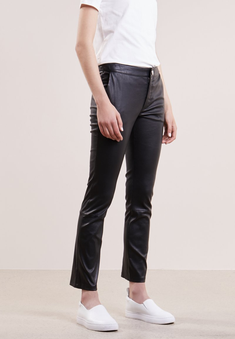 2nd Day - LEYA - Leather trousers - black