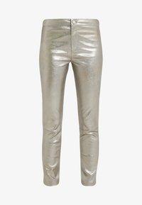 2nd Day - RENE - Pantalon en cuir - silver - 3