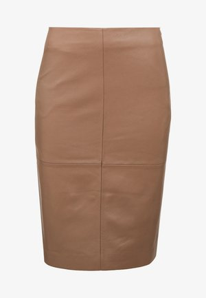 CECILIA - Pencil skirt - golden camel