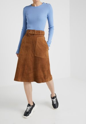ANGIE - A-snit nederdel/ A-formede nederdele - brown