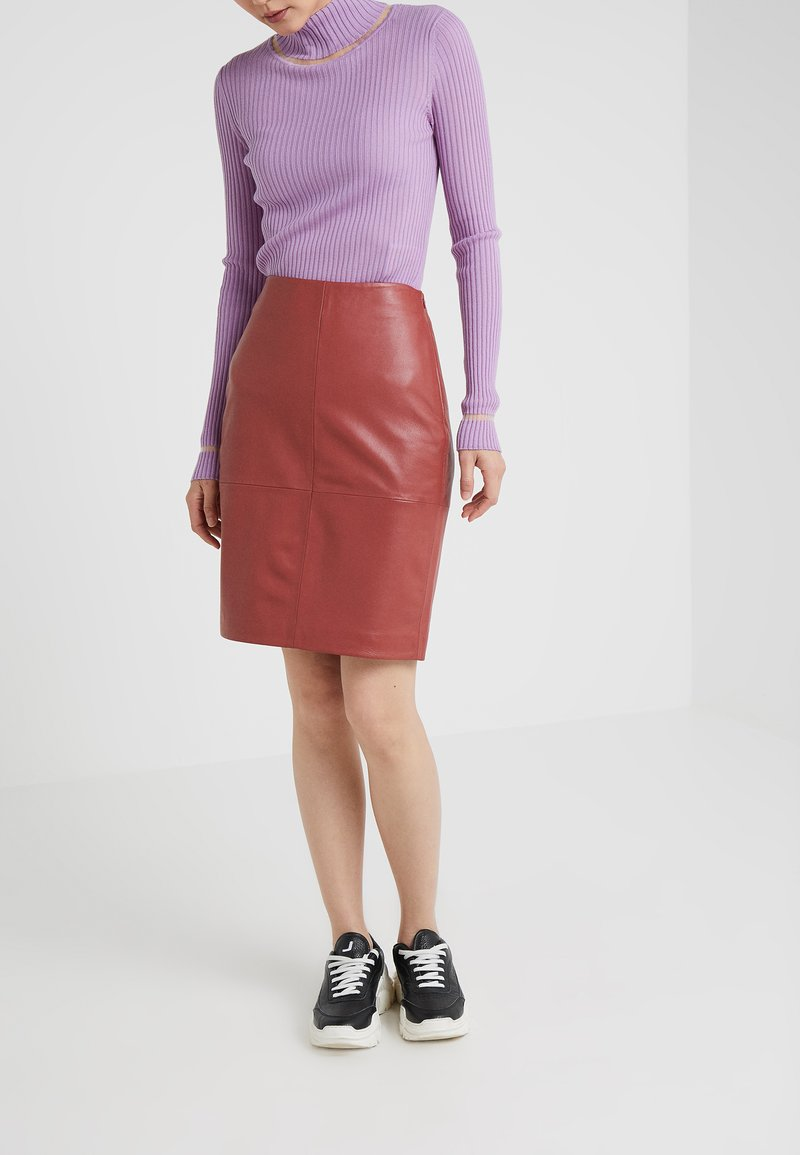 2nd Day - CECILIA - A-line skirt - red ochre
