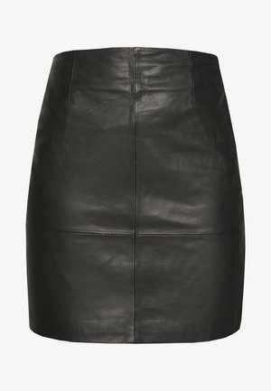 ELECTRA - Leather skirt - black