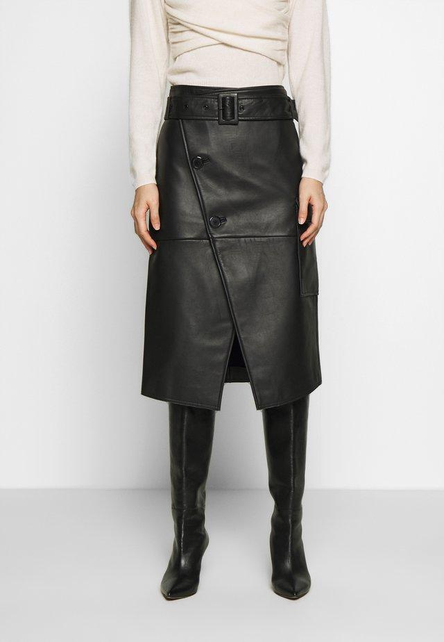 SWAY - Zavinovací sukně - black