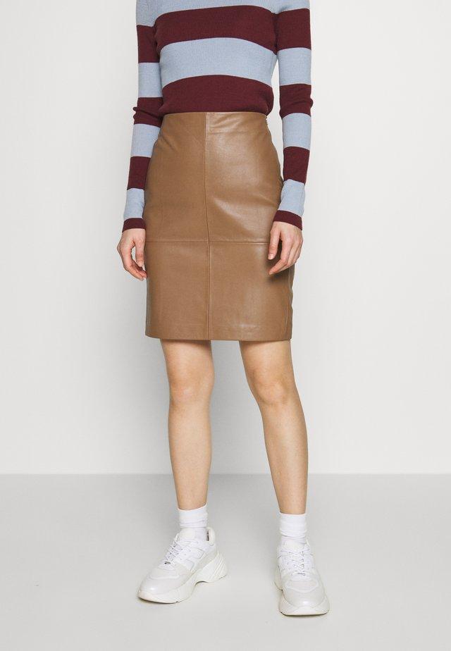 CECILIA - Pencil skirt - camel