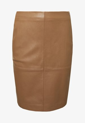 CECILIA - Pencil skirt - camel