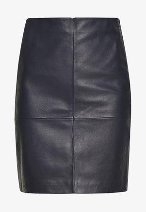 CECILIA - Mini skirt - navy blazer