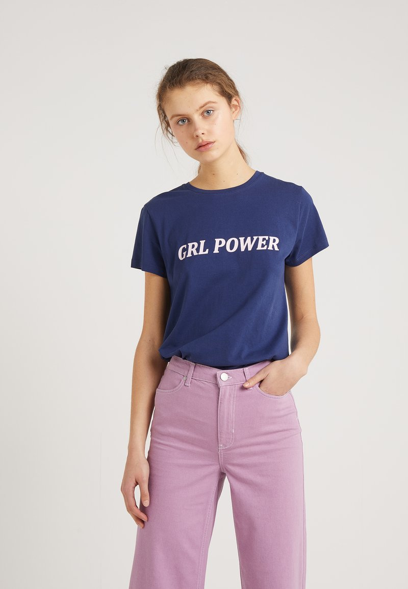 2nd Day - POWER - T-shirt imprimé - blue