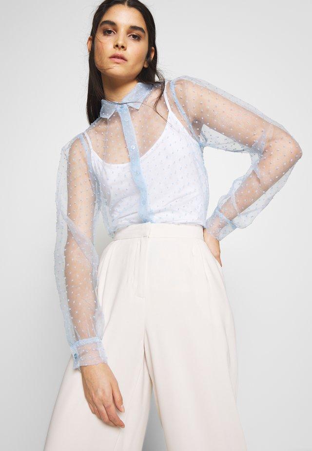 HALO - Button-down blouse - cerulean blue