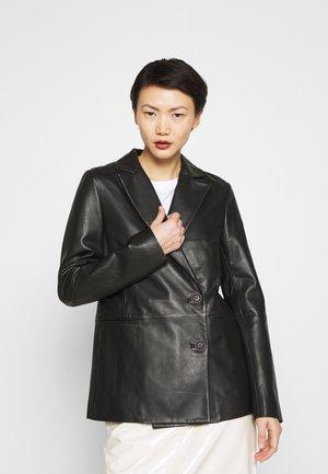 LATOYA - Leather jacket - black