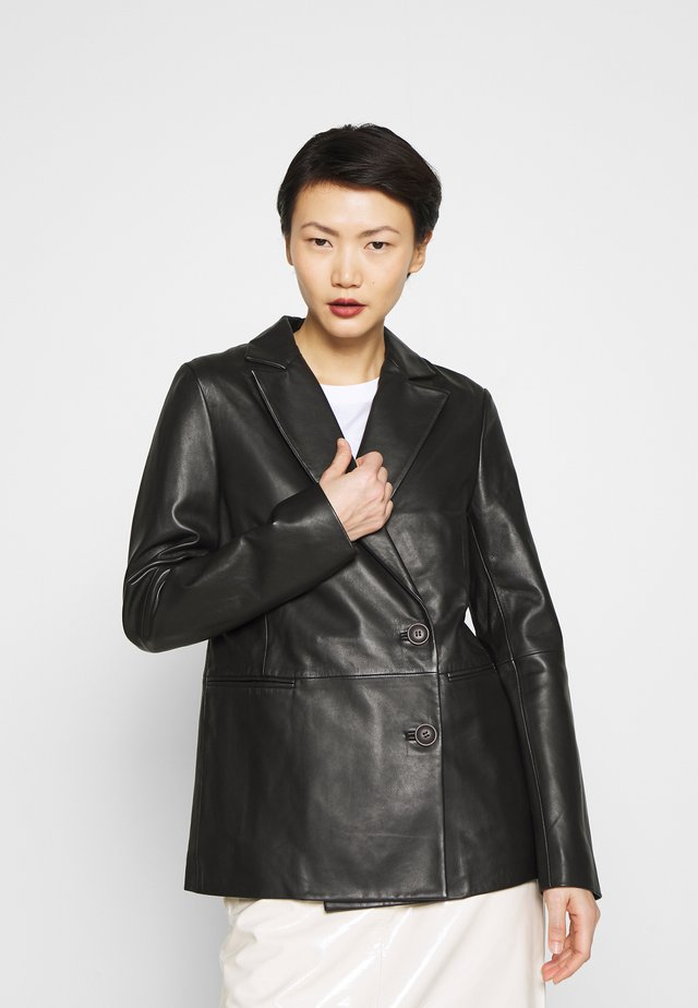 LATOYA - Leather jacket - black