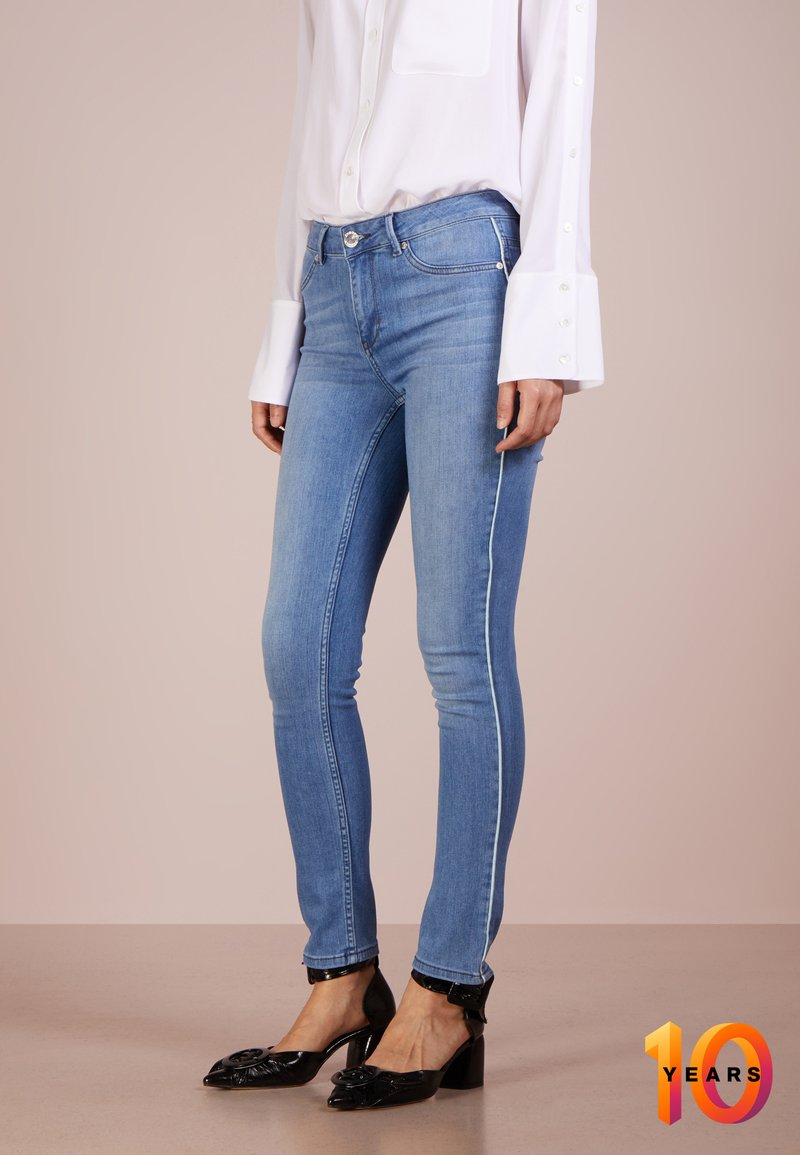 2nd Day - JOLIE CROPPED PIPED  - Jeans Skinny - mid blue