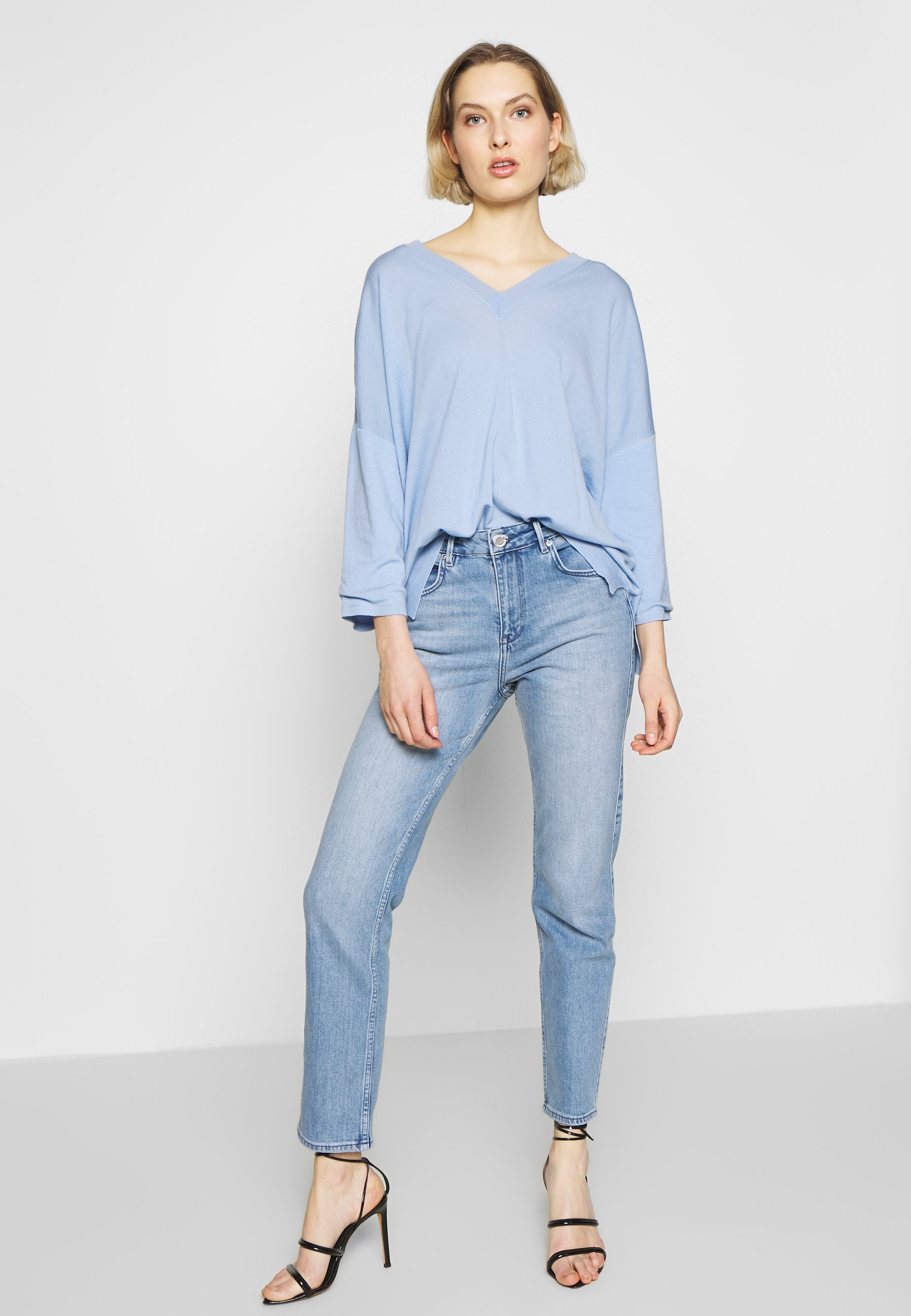 2nd Day Riggis Slit Thinktwice - Jeans Straight Leg Light Blue