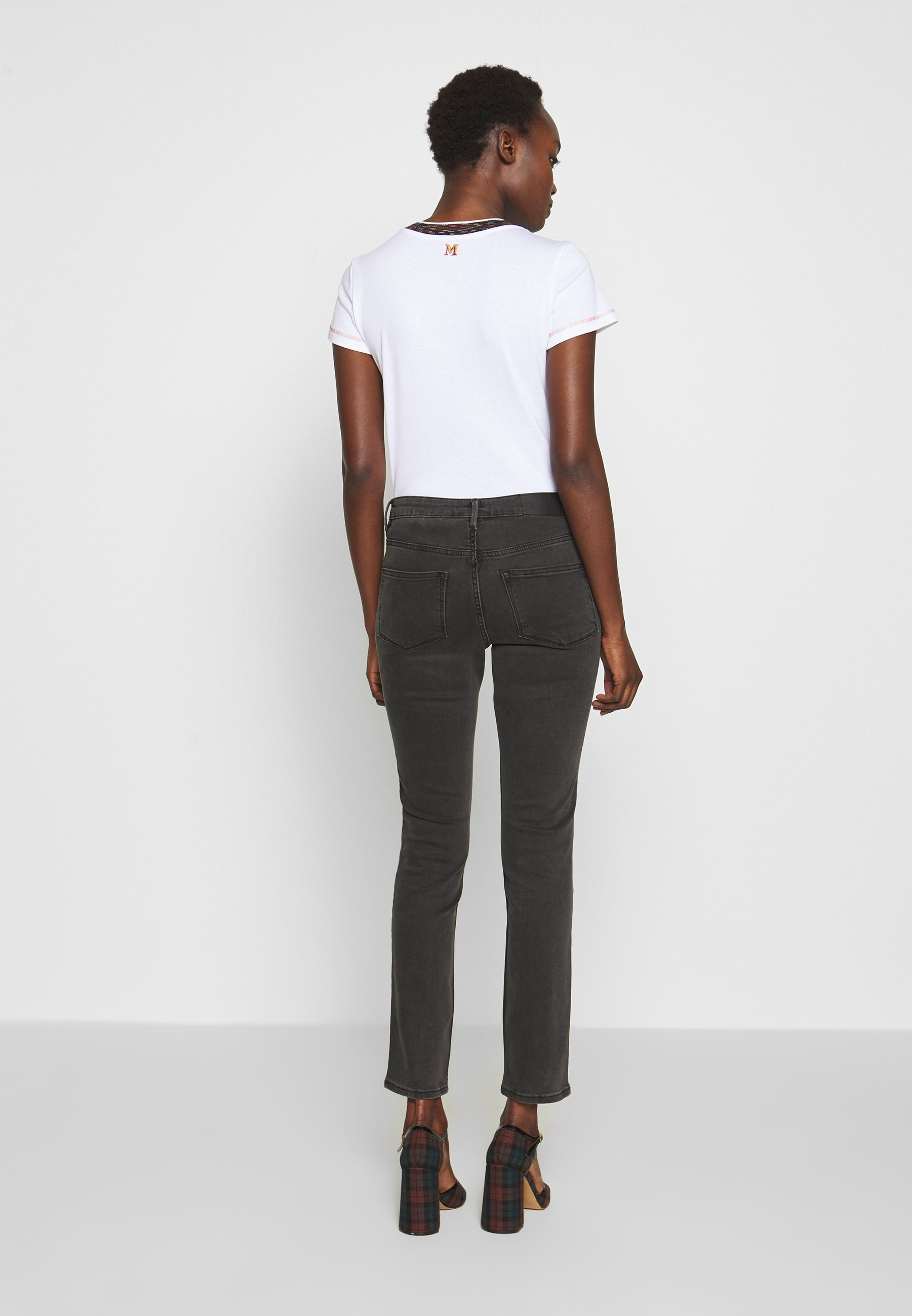 2nd Day JOLIE CROPPED DUAL - Jeansy Skinny Fit - un black denim
