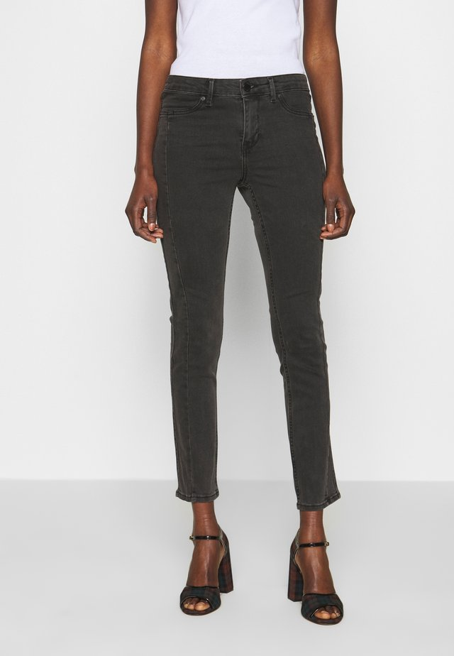 JOLIE CROPPED DUAL - Jeans Skinny Fit - un black denim