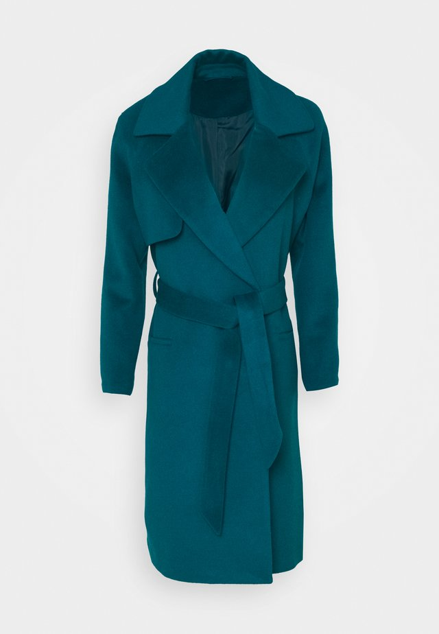 Płaszcz wełniany /Płaszcz klasyczny - petrol